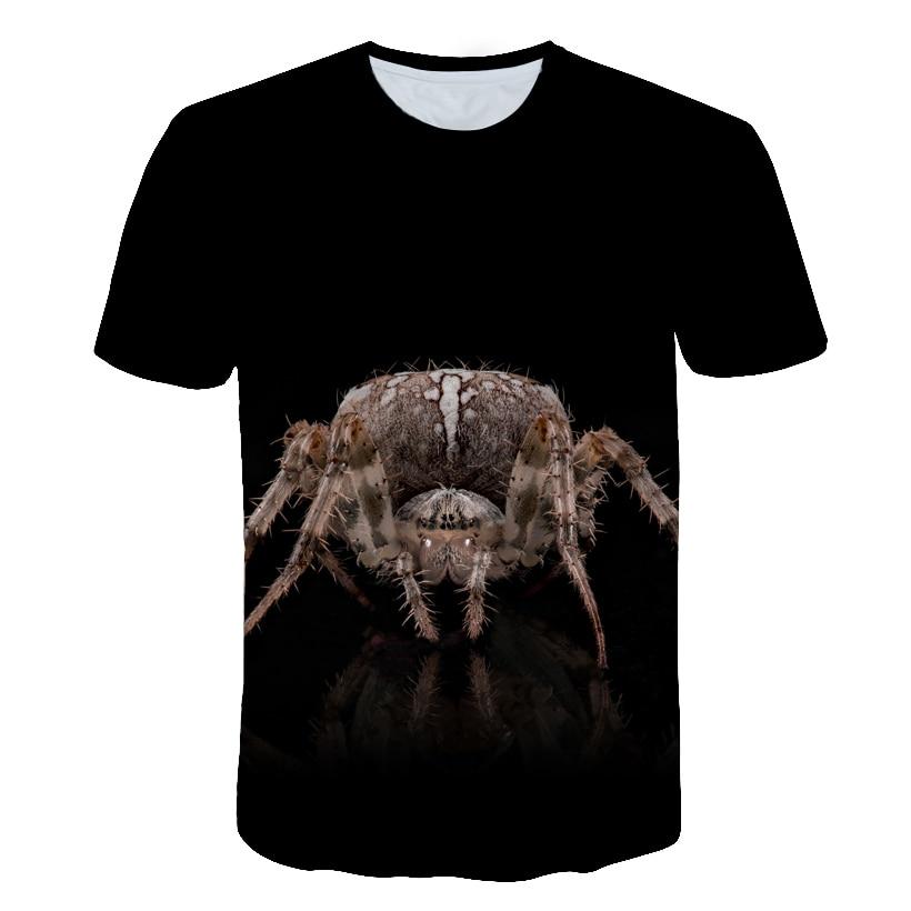 2018 Hot sales 3d t shirt New Summer tops tees men/boy t-shirt spider print cat 3d t shirt animal fashion short sleeve t shirts