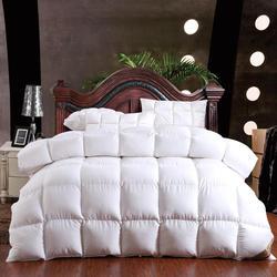 100% inverno piuma d'oca trapunta comforter coperta duvet copertura del cotone di riempimento doppia singola regina cena king size giallo bianco pin