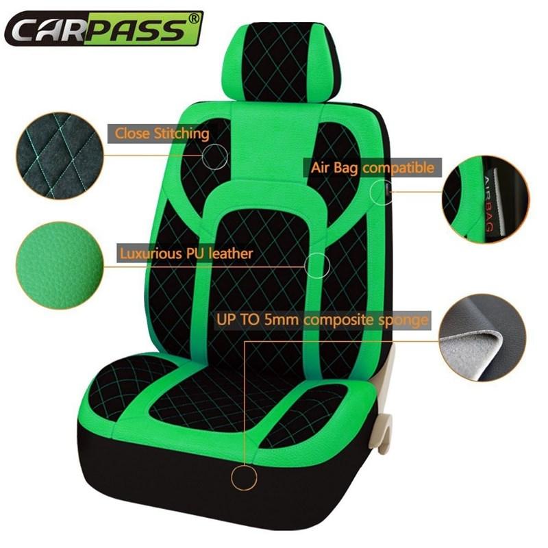Extremo PU Cubiertas de Asiento de Piel de Cuero Conjunto Universal - Accesorios de interior de coche - foto 2