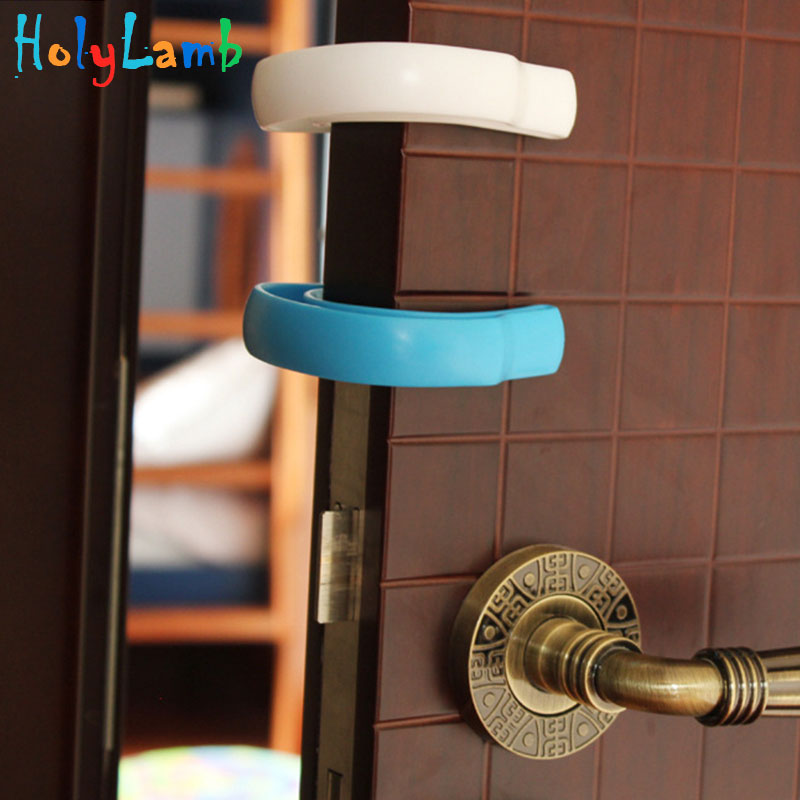 2Pcs/Lot Protection Baby Safety Plastic Door Card Security Stopper Baby Newborn Child Lock Protection From Children Door Stop