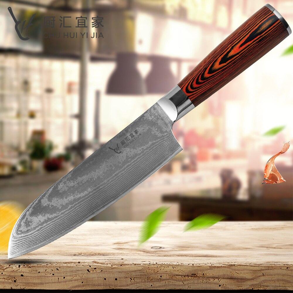 Couteau damas couteau Santoku 7