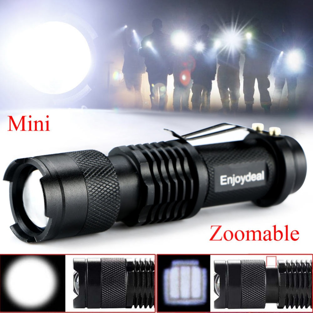 2 Colors Waterproof Mini 1200 Lumen CREE Q5 LED Adjustable Zoom Focus Flashlight Torch Adjustable Focus AA / 14500 For Outdoor thrunite th20 led headlamp 520 lumen cree xp l led head flashlight mini edc aa 14500 torch waterproof headlight