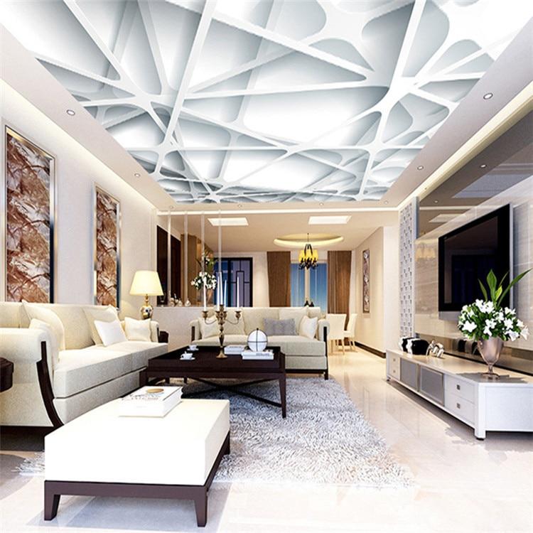 3D Modern Minimalist Ceiling Wallpaper Living Room Bedroom