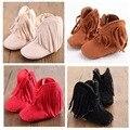 6 colores Bebé Recién Nacido Niño Niños Prewalker del bebé Solid Fringe mocasín Zapatos Infantiles Del Niño Suela Blanda antideslizante botas-$ number Año