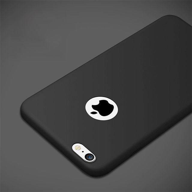0ec5be22169 Matte Skin Case Fundas for iPhone 5S Case 5 SE iPhone 6 Cover Cute Silicone  Original Cases for iPhone 6 6S Plus Phone Case Apple