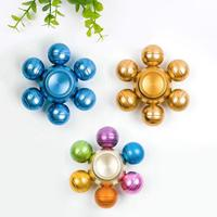 Six Dragon Beads Fidget Spinner Metal Rainbow Hand Finger Spinner Bearing Top Fidget Toys Stress Wheel