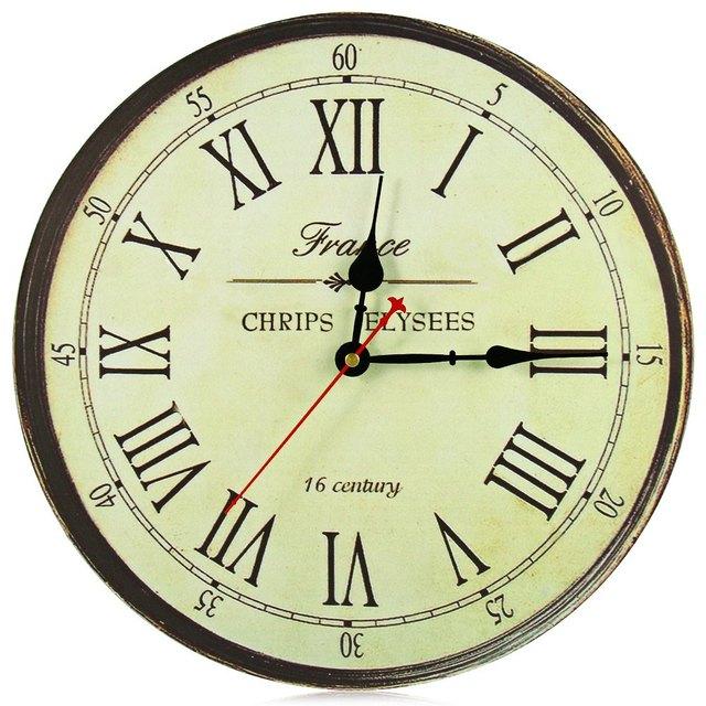 Excellent orologio antico orologio da parete rustico stile - Orologi da parete stile country ...