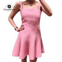 Женское платье Весна спагетти ремень платье розовый а силуэт мини платье Повседневная Женская одежда Vestido