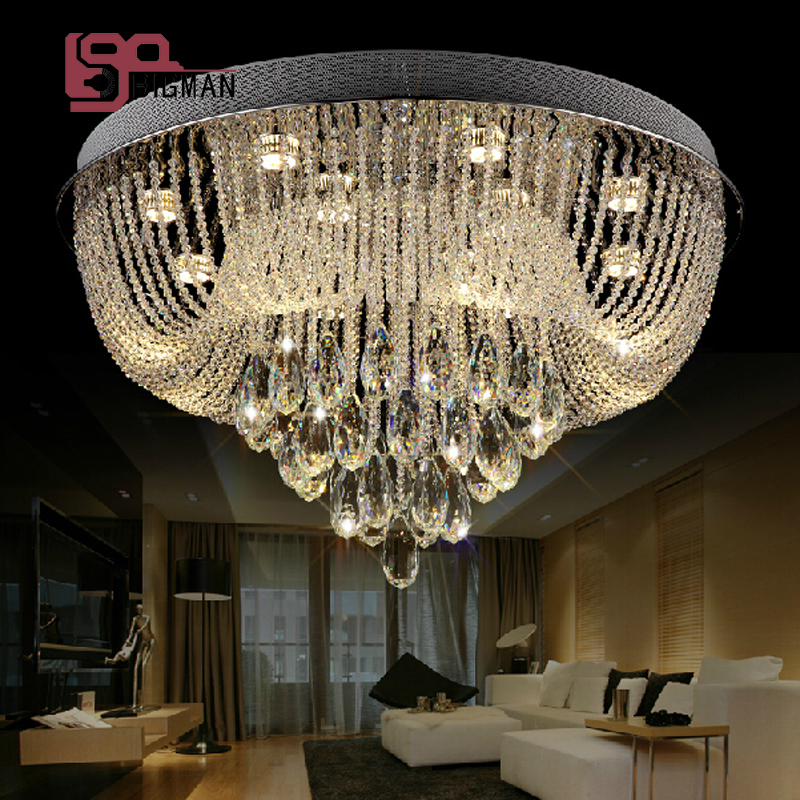 new modern item LED crystal lights fixtures foyer ceiling light wideth 600mm luxury home lighting