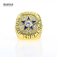 American Size11 Dallas Cowboys 1971 World Champion Ring Replica High Quality Fast Shipping Fashion Wholesale Golden