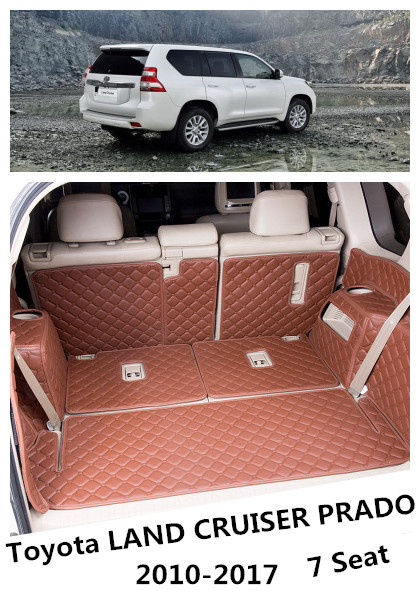 For Toyota LAND CRUISER PRADO 150 2010-2018 7 Seat Full Rear Trunk Tray Liner Cargo Mat Floor Protector foot pad mats цены