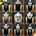 2016 NOVO T-shirt dos homens MARCELO BURLON CONTY DE MILÃO Camisas Tee 3D Top XS-XXL Regular