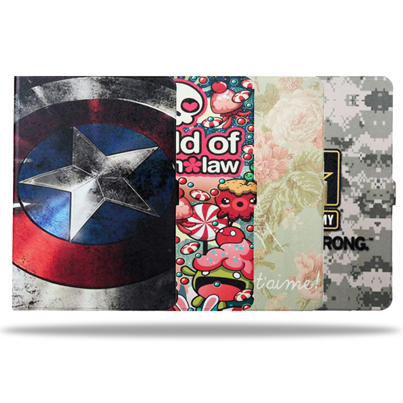 Fashion Painted Leather case for Samsung Tab A 9.7 Stand Function PU Leather Cover for Samsung Galaxy Tab A 9.7 T550 T555