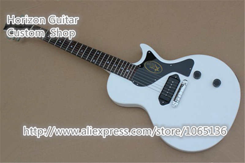 buy good cheap price lp studio electric guitar junior white color dot fret. Black Bedroom Furniture Sets. Home Design Ideas