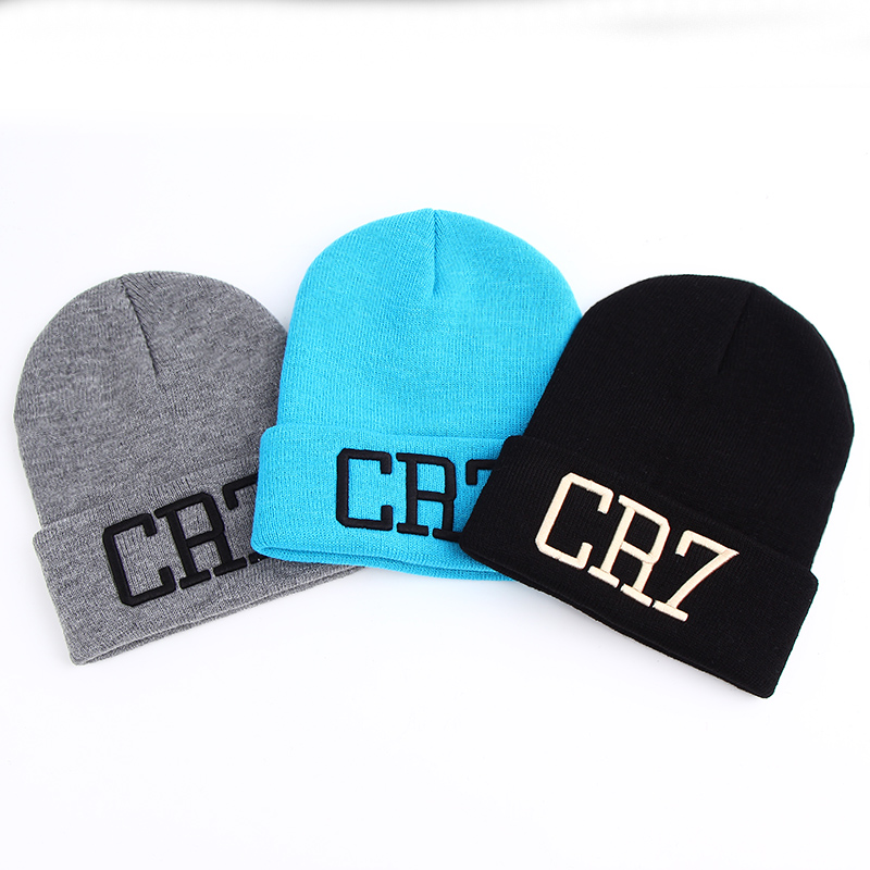 VORON New Hat 1PC Sport Winter CR7 Letter Cap Men Hat Beanie Knitted Hiphop Winter Hats For Women Fashion Warm Caps