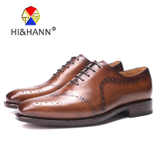 Italia Goodyear Craft Genuine Calf Leather men shoes Hand Made lace up Men s Formal Dress