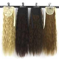 Soowee fibra a temperatura elevata sintetica afro crespo dei capelli coda di cavallo posticci coulisse coda di cavallo extensions