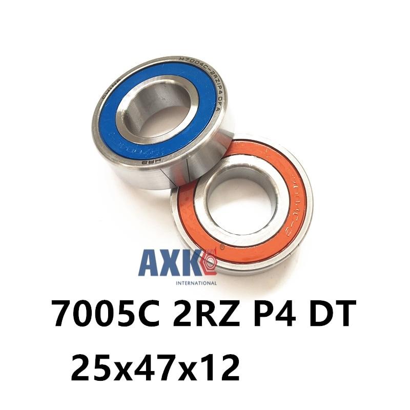 1 Pair AXK  7005 7005C 2RZ P4 DT 25x47x12 25x47x24 Sealed Angular Contact Bearings Speed Spindle Bearings CNC ABEC-71 Pair AXK  7005 7005C 2RZ P4 DT 25x47x12 25x47x24 Sealed Angular Contact Bearings Speed Spindle Bearings CNC ABEC-7
