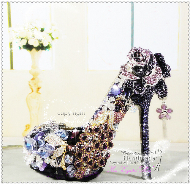 New Handmade Luxury purple shoes for wedding wedding shoes purple platform  wedding shoes 5.5inch c58e444822f6