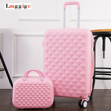20″24″28″inch Diamond design Luggage Set, Women's Lightweight Wearable Suitcase,Colorful ABS Travel Box,Rolling Trolley Hardcase