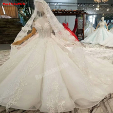 Wedding Dresses Vintage High Long Sleeve Bridal Gowns
