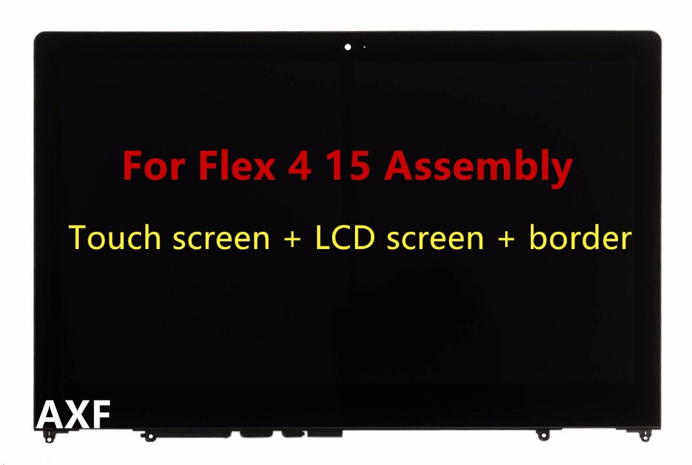 For Lenovo-Flex-4-15-15-6-034-FHD-LED-LCD-Touch-Screen-Digitizer-Assembly-Glass-Bezel free shipping for lenovo flex 2 15 flex 2 pro 15 new touch panel touch screen digitizer glass lens replacement repairing parts