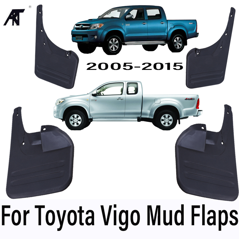 Car Mud Flaps For Toyota HILUX REVO Vigo 2005-2015 4x4 Mudflaps Splash Guards Mud Flap Mudguards Fender Car Styling Set Molded