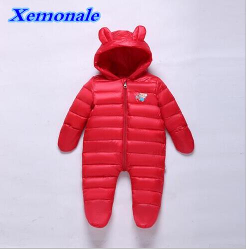 2017 Winter Infant/Newborn Rompers Cotton velvet Baby Girls Boys Warm Rompers Hooded Casual Children Outdoor Kids Jumpsuits new 2016 autumn winter kids jumpsuits newborn baby clothes infant hooded cotton rompers baby boys striped monkey coveralls