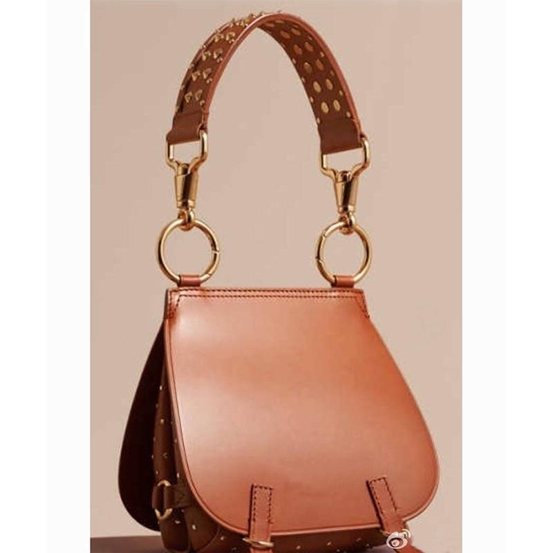 ФОТО 2017 New Designer Fashion Hand Bag For Women Messenger Bag Ladies Vintage Shoulder Handbags Stud England Smooth Pu Leather Sac