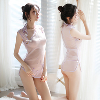 2019 summer Erotic Dress for sex Chinese Wind Erotic qipao dress Temptation Retro Camisola Sexy Lingerie Hot Nightgown