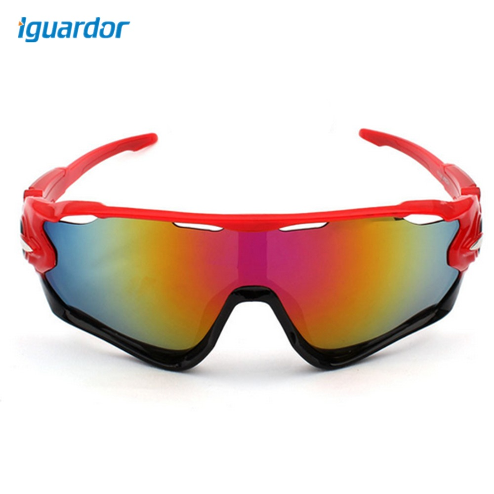 iguardor Outdoor Activities Goggle Skiing Cycling Wind Goggle - Red Frame + Red Film
