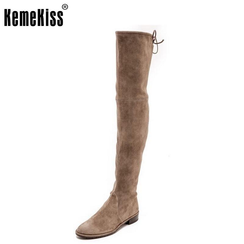 ФОТО women real genuine leather flat over knee boots fashion long boot winter botas feminina brand footwear shoes R7227 size 34-39
