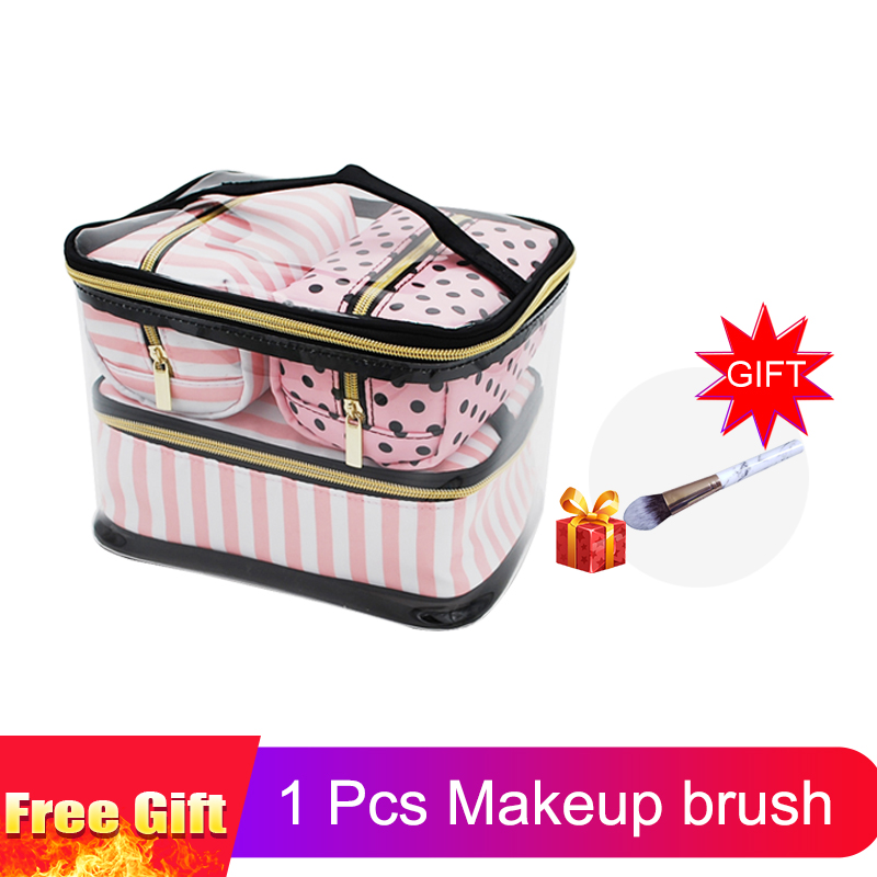 661790aa0ef3ef Detail Feedback Questions about PVC Transparent Cosmetic Bag Women's Pink  Travel Waterproof Clear Wash Organizer Pouch Beauty Makeup Case Accessories  ...