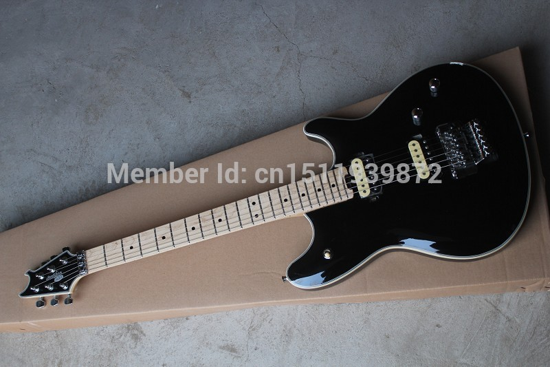 Hardcase Top Quality EVH Wolfgang electric guitar EVH wolfgang matte black flat black electric guitar in stock new arrival matte black finish wolfgang evh electric guitars chinese solid guitar body
