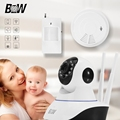 Rfid Mini IP Camera P2P HD 720P MegaPixel Lens Filter Wireless Wifi IR-Cut Infrared Motion Sensor + Smoke Detector Baby Monitor