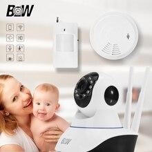 Rfid Мини Ip-камера P2P HD 720 P Мегапиксельный Объектив Фильтр беспроводной Wi-Fi Ик-Ик Motion Sensor + Детектор Дыма Ребенка монитор