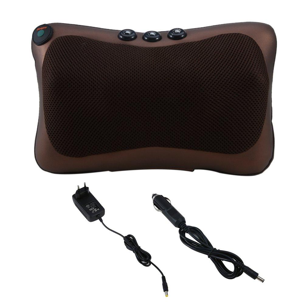 1 pcs Neck Massager Car Home Shiatsu Massage Neck Relaxation Back Waist Body Electric Massage Deep-Kneading Pillow Cushion