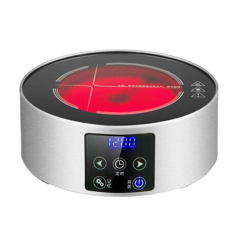 AC220 240V 50 60hz mini fogão cerâmico elétrico fervente chá aquecimento café 1200w power 6 arquivos podem cronometrar 3 horas - 5