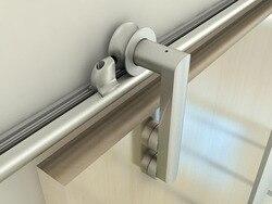 DIYHD 150cm~200cm Aluminum Wooden sliding barn door hardware European stylish barn door track kit