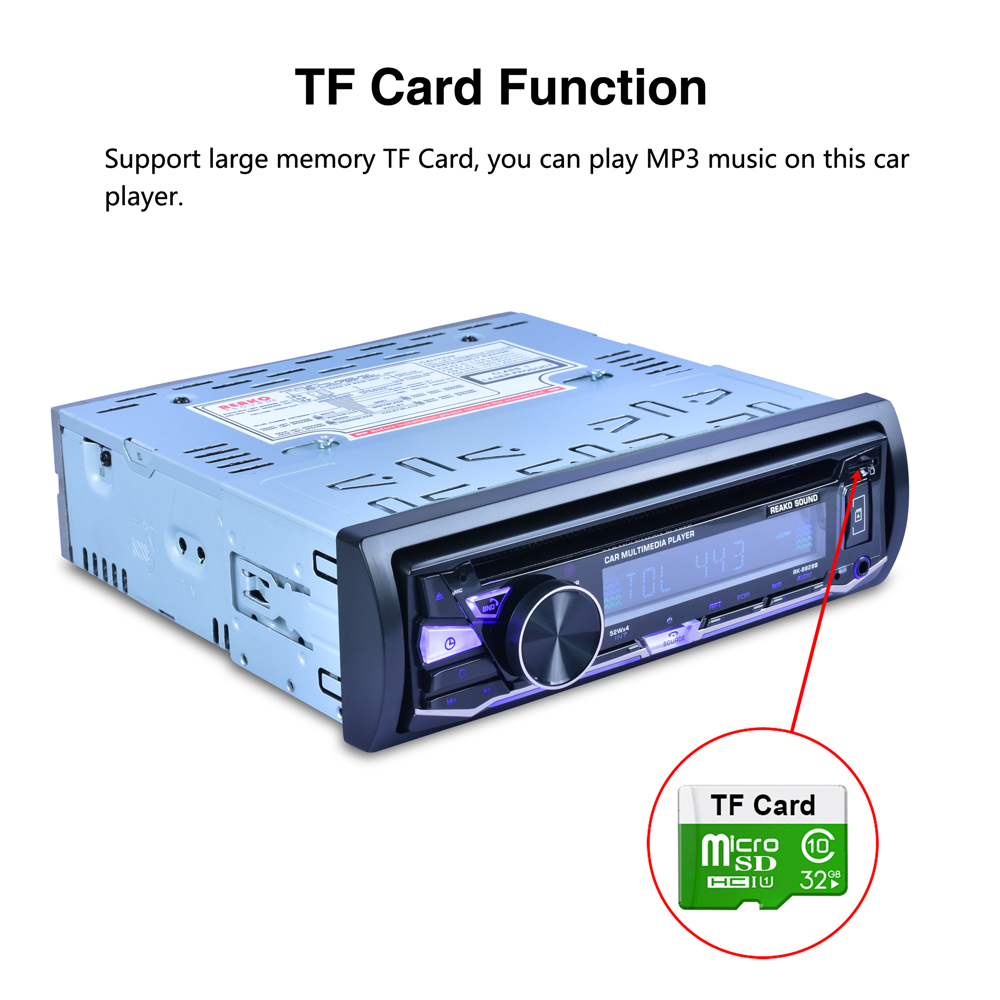RK 8828B 12V 1 Din Bluetooth Car DVD player Support VCD SD USB AUX Built in AM FM RDS Radio Stereo in Car MP4 MP5 Players from Automobiles Motorcycles