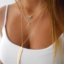 Bling-World Fashion Gold Silver Plated Multilayer Necklaces & Pendants For Women Necklace Jewelry Delicate New