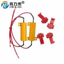 цена на 10x 50W 6ohm LED Load Resistor Fix Bulb Fast Hyper Flash Tail Signal Blink For LED Fog turnning Running Indicators etc