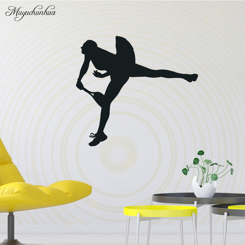Muyuchunhua Tennis Wall Sticker Mural for Home Decor Living Room Bedroom DIY Waterproof Home Decoration Accessories Wall Decal