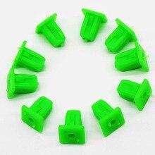 50 adet yeşil kare oto bağlantı elemanları oto tampon Fastener perçin tutucu klipler itme motor kapağı çamurluk araba kapı pervazı Panel klipsi