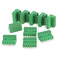 10Pcs 6 Pin 2EDG Screw Terminal Block Connector 5 08mm Pin Spacing PCB Mount