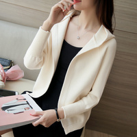 Women S Short Sleeved Sweater Women S Autumn And Winter Hooded Sweater Korean Version Of The