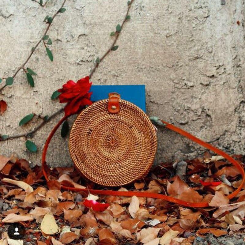 Circle Bohemia Rattan Tote Bag