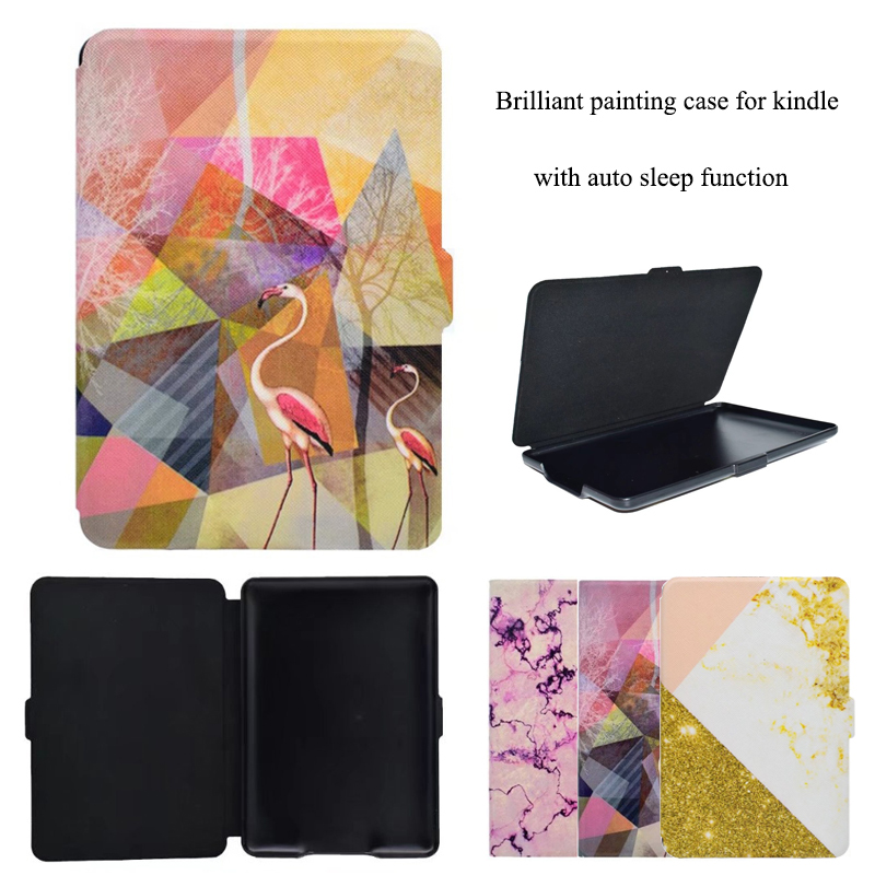 6 inch Case for Kindle Paperwhite 2 3 High Quality PU Leather E-book Cover Case Fashion Print Protective Sleeve Auto Sleep sleeve pouch case for amazon kindle paperwhite new kindle kindle voyage 6 inch easy carry e book e reader sleeve cover case bag