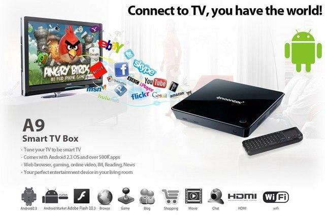 US $258 99 |1080P HD Media Player Android Smart TV Box CPU Vivante GC800 e  book online shopping multi media player +Wireless Keyboard في 1080P HD