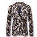 2016 Men Floral Blazers Jackets Coats Dress Suits Herren Anzug Men's Casual Fashion Slim Fit Single Button Style Blazers Jackets